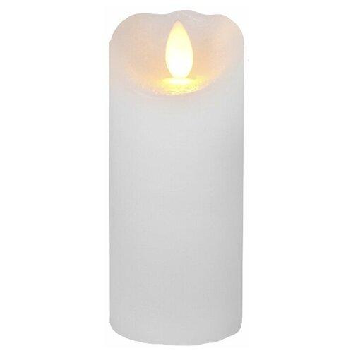 свеча светодиодная пластиковая с эффектом мерцающего пламени высота 8 5 см цвет бежевый 063 88 Свеча светодиодная с эффектом мерцающего пламени с таймером, высота - 12,5 см, цвет - белый, 068-43