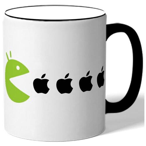 Кружка Пакмен есть яблоки Apple