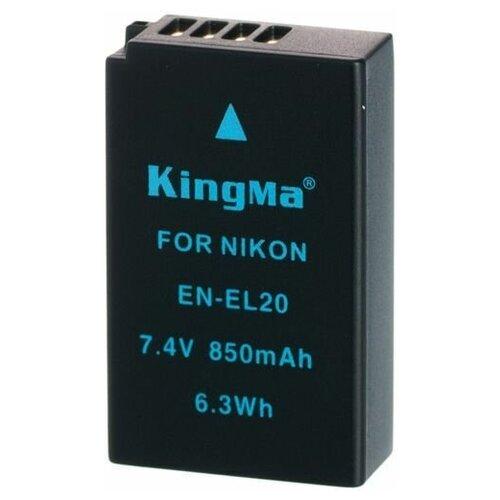 Фото - Аккумулятор KingMa EN-EL20 для Nikon Coolpix A, Nikon 1 J1, J2, J3, S1, AW1 аккумулятор fb en el1 для nikon coolpix 4800 5000 5400 5700 8700