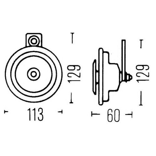 Звуковой сигнал Hella 3BA 002 768-201