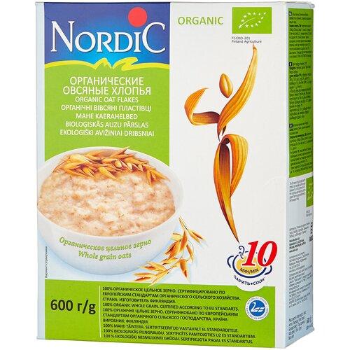 Nordic Хлопья овсяные органические, 600 г без брэнда хлопья органические new овсяные 4life