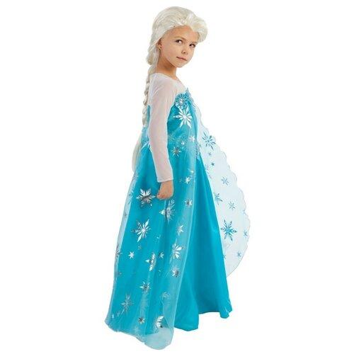 Купить Костюм пуговка Элиза (2052 к-18), белый/голубой, размер 140, Карнавальные костюмы