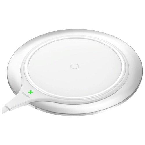 Фото - Беспроводная сетевая зарядка Baseus Metal Wireless Charger, белый беспроводная сетевая зарядка baseus card ultra thin wireless charger черный