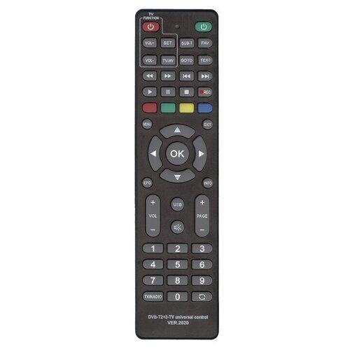 Фото - Пульт ДУ Huayu DVB-T2+3-TV для ресиверов dvb-t/t2/c и iptv, черный пульт huayu rc0105 stb 105 для dvb ресиверов bbk