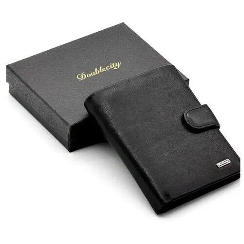 Фото - Мужское кожаное портмоне для документов и денег с RFID защитой Doublecity 097-DC23-07A (104489) портмоне кожаное для документов и денег вп а табачно желтое apache