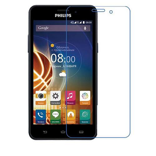 Защитная пленка MyPads (только на плоскую поверхность экрана НЕ закругленная) для телефона Philips Xenium V787 глянцевая