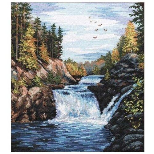 Набор для вышивания «Водопад «Кивач», 29x35 см, Овен