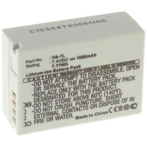 Фото - Аккумулятор iBatt iB-U1-F125 1050mAh для Canon PowerShot SX30 IS, PowerShot G12, PowerShot G10, PowerShot G11 canon powershot sx740 черный