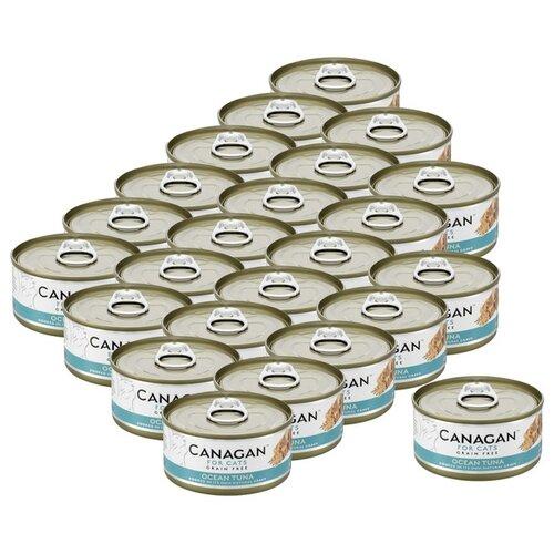 Влажный корм для кошек Canagan беззерновой 24 шт. х 75 г (кусочки в соусе)