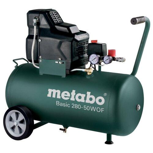 Фото - Компрессор безмасляный Metabo BASIC 280-50 W OF, 50 л, 1.7 кВт компрессор безмасляный hyundai hyc 3050s 50 л 2 квт