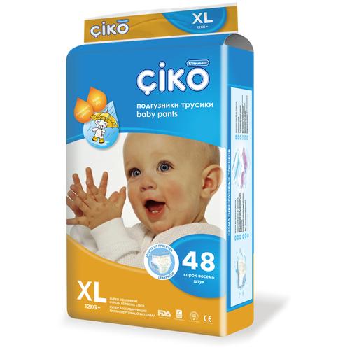 Фото - Ciko трусики XL (12+ кг) 48 шт. joyo roy трусики двойные пятислойные р 100 13 17 кг 2 шт