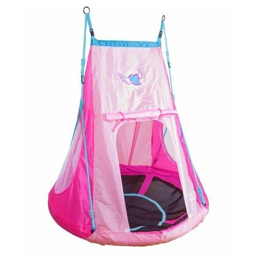 HUDORA Гнездо с палаткой Сердечко 110, розовый