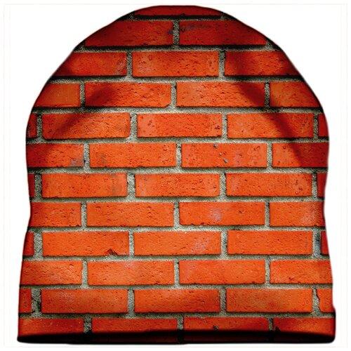 Шапка мужская Кирпичная стена