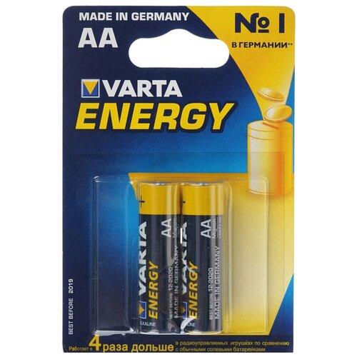 Фото - Батарейка VARTA ENERGY AA, 2 шт. батарейка energizer max plus aa 4 шт
