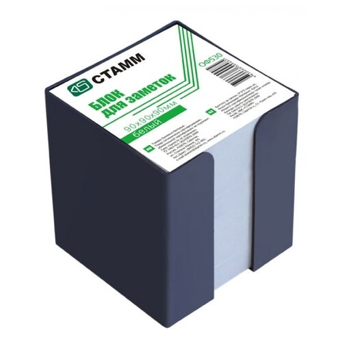 Купить СТАММ Блок для записи Стамм в пластиковом боксе 9 х 9 х 9 см (ОФ530) белый, Бумага для заметок