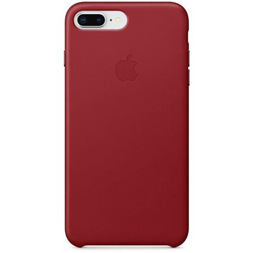 кожаный чехол apple leather case для iphone 8 7 цвет product red красный mqha2zm a Чехол-накладка Apple кожаный для iPhone 8 Plus / 7 Plus (PRODUCT)RED