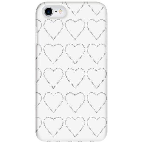 Чехол-накладка Mitya Veselkov IP7.MITYA-033 для Apple iPhone 7/iPhone 8 сердца-нашивки