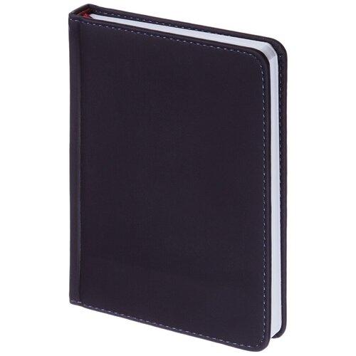 Купить Ежедневник недатированный Альт A6+, 136 листов, Velvet, темно-синий, Ежедневники, записные книжки