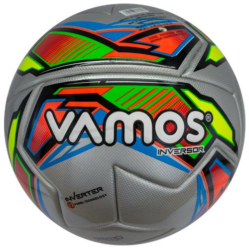 Мяч футбольный Vamos INVERSOR , 5 размер, серебристый ,красный