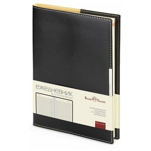 Купить Ежедневник Bruno Visconti Metropol недатированный, искусственная кожа, А5, 136 листов, черный, Ежедневники, записные книжки