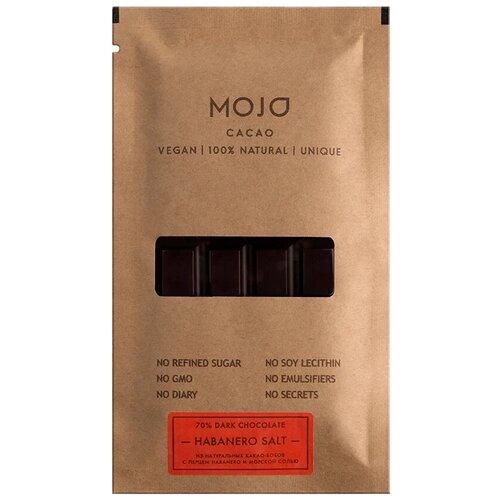 Шоколад Mojo Cacao Habanero Salt горький с перцем и морской солью, 80 г