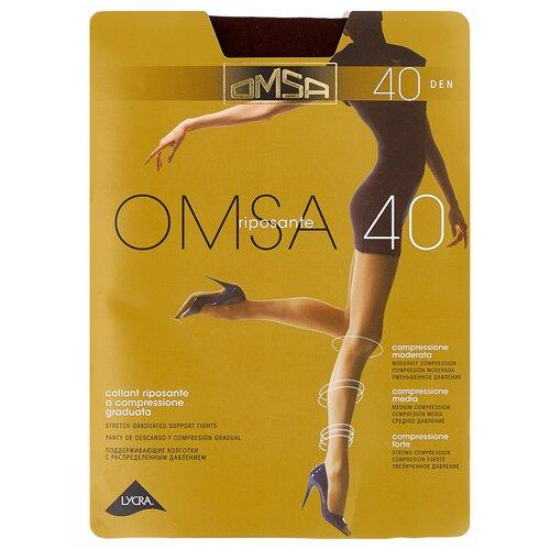 Колготки Omsa Omsa, 40 den, размер 4-L, marrone (коричневый) колготки omsa omsa 40 den размер 4 l marrone коричневый