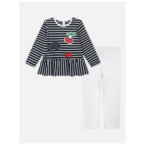 Фото - Комплект одежды playToday размер 74, красный/белый/темно-синий песочник playtoday размер 74 белый голубой синий