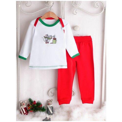 Комплект одежды Трия размер 80-86, красный боди трия размер 80 86 коралловый
