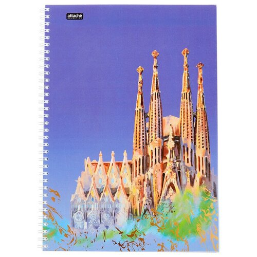 Бизнес-тетрадь Attache Selection А4,96л, клетка, гребень, Travel Spain