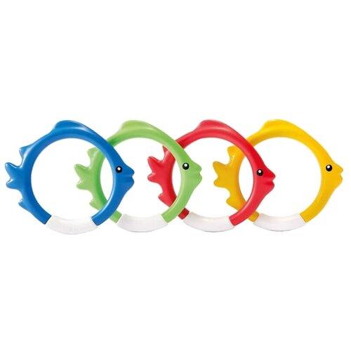 Купить Кольца для подводной игры Рыбки желтый/синий/зеленый/красный, Intex, Спортивные игры и игрушки