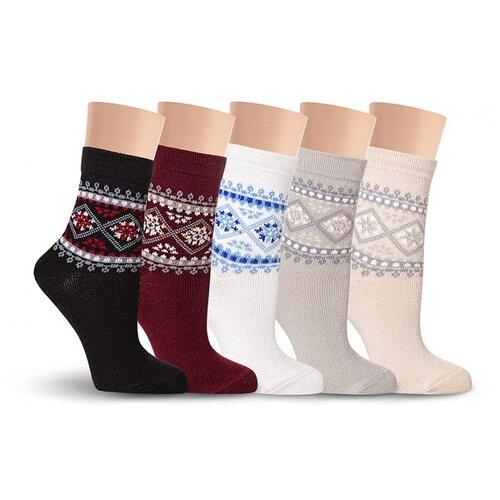 Зимние женские носки LorenzLine В15 (85% полушерсть), Бежевый, 23 (размер обуви 36-37)
