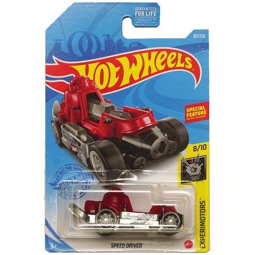 Hot Wheels Базовая машинка Speed Driver, красная mattel базовая машинка hot wheels tesla model 3