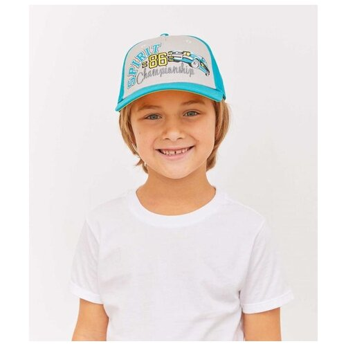 Купить Бейсболка для мальчика Totti МВ-1317, размер 54-56, яр.голубой, Головные уборы