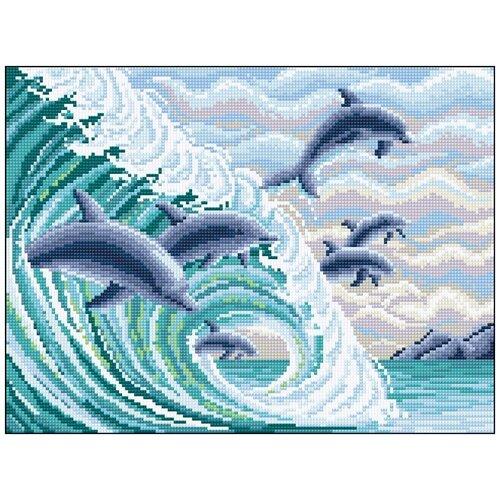 Алмазная мозаика Алмазная Фея 0092. Дельфины