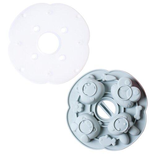 Силиконовая форма для конфет, печенья, желе, шоколада Животные, 8 ячеек, цвет серо-голубой, 15,5х15,5х3,2 см, Kitchen Angel KA-SFRM4-01 недорого