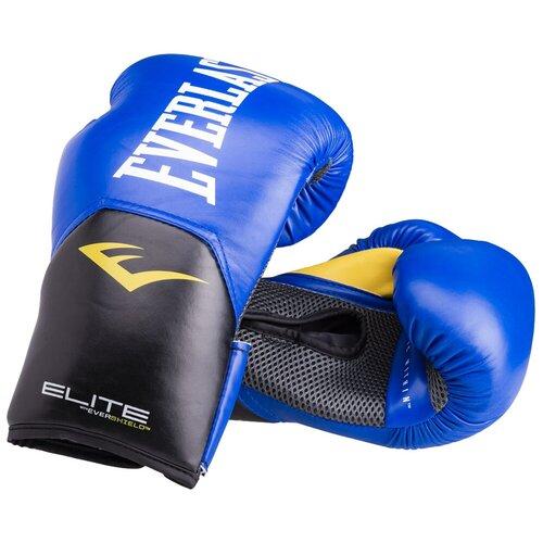 Боксерские перчатки Everlast Elite ProStyle синий 14 oz