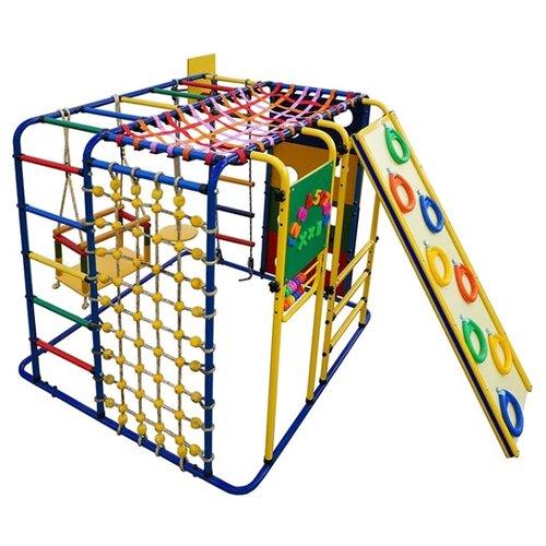 Купить Спортивно-игровой комплекс Формула здоровья Кубик-У Плюс, синий/радуга, Игровые и спортивные комплексы и горки