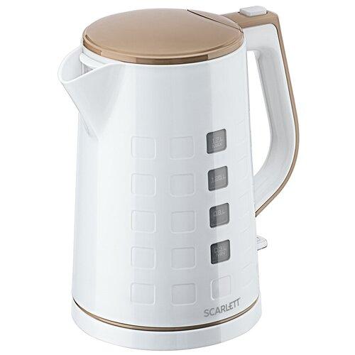 Фото - Чайник Scarlett SC-EK18P58, белый чайник электрический scarlett sc ek18p58