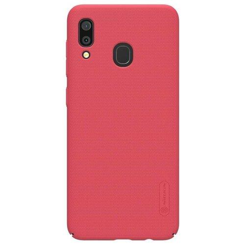 Фото - Чехол пластиковый Nillkin Super Frosted Shield для Samsung Galaxy A30 цвет-красный чехол для samsung galaxy a10 2019 sm a105 nillkin super frosted shield case черный