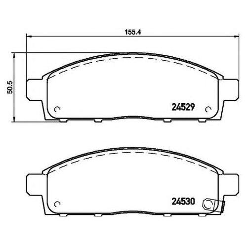 Комплект тормозных колодок Hella 8DB 355 013-221 для Fiat Fullback; Mitsubishi L 200, Pajero Sport II