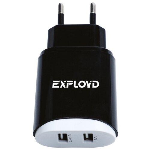 Фото - Зарядное устройство для телефона 2USB 3.4A Exployd Sonder EX-Z-772 Black зарядное устройство exployd sonder 2xusb 3 4a white ex z 775