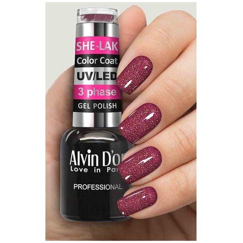 Купить Гель-лак для ногтей Alvin D'or She-Lak Color Coat, 8 мл, 3574