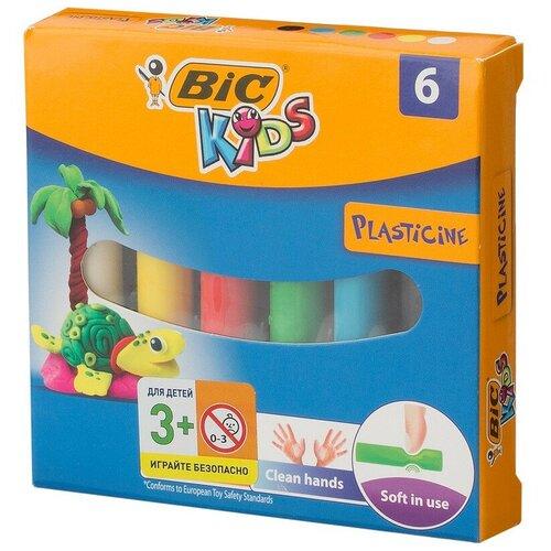 Пластилин BIC 6 цветов, 2 уп недорого
