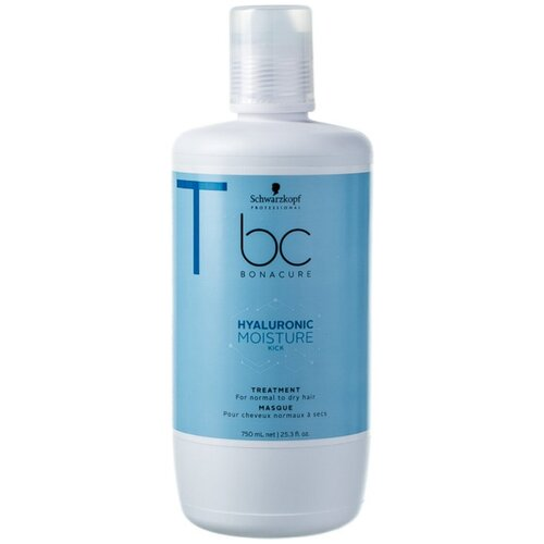 Фото - BC Bonacure Hyaluronic Moisture Kick Treatment Маска для волос увлажняющая, 750 мл medius двойная маска увлажняющая moisture focus 25 мл