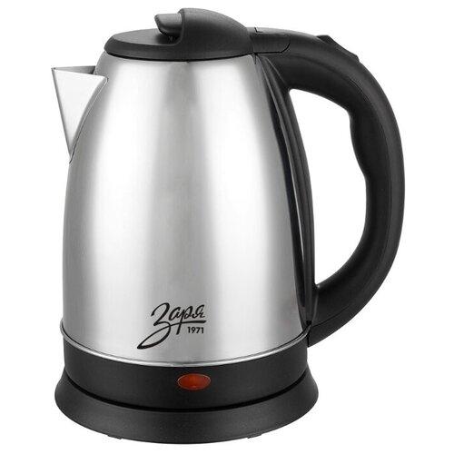 Чайник Заря 256-01, серебристый/черный