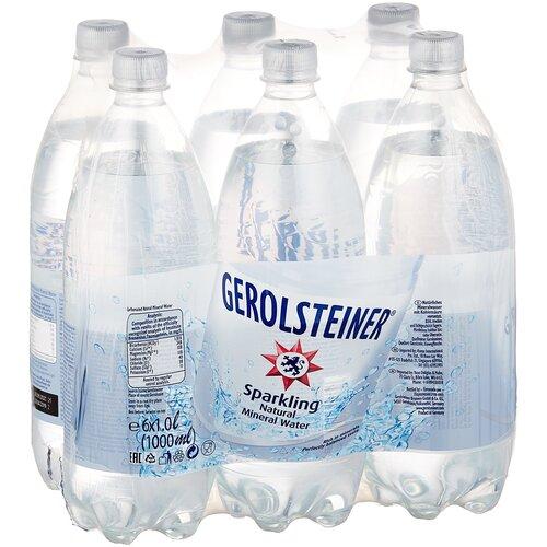 Вода минеральная Gerolsteiner газированная, ПЭТ, 6 шт. по 1 л минеральная вода borjomi газированная пэт 6 шт по 1 л