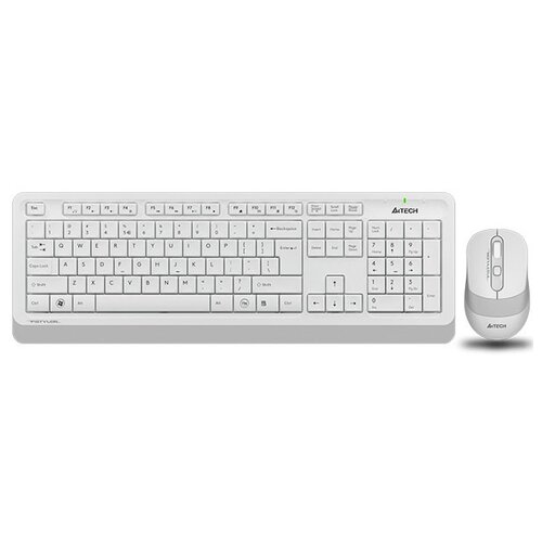 Клавиатура и мышь A4Tech FG1010 White USB