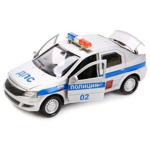 Легковой автомобиль ТЕХНОПАРК Renault Logan Полиция (LOGAN-P), 12 см, серебристый легковой автомобиль технопарк renault kaptur 1 36 12 см оранжевый