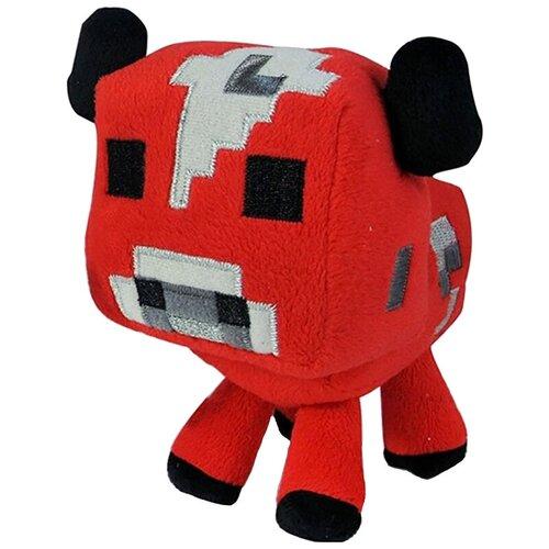 Мягкая игрушка Jazwares Minecraft Baby cow красный 18 см