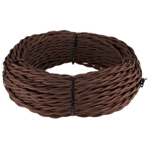 Ретро кабель Werkel витой трехжильный 1,5 мм коричневый W6453514 4690389165900